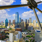 Reunion Tower in Dallas, TX
